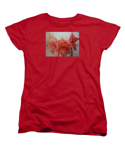 Amarylis Women's T-Shirt (Standard Cut) by Ruth Kamenev
