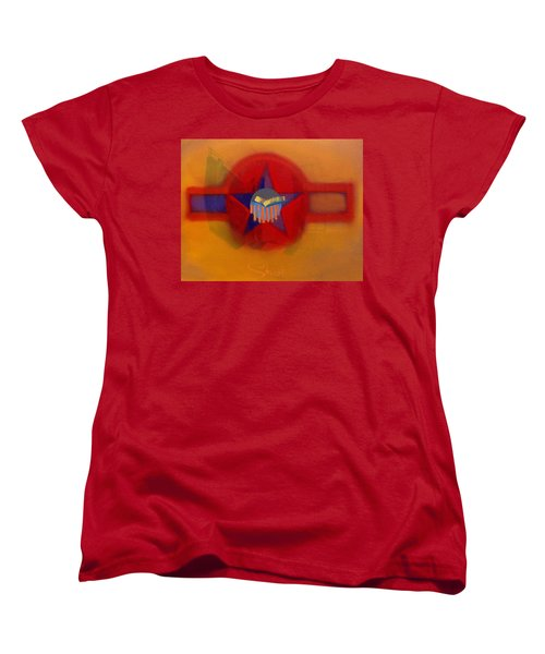 Women's T-Shirt (Standard Cut) featuring the painting American Sub Decal by Charles Stuart