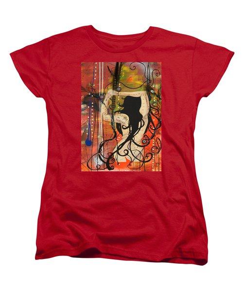 American Witch Women's T-Shirt (Standard Cut) by Sheridan Furrer