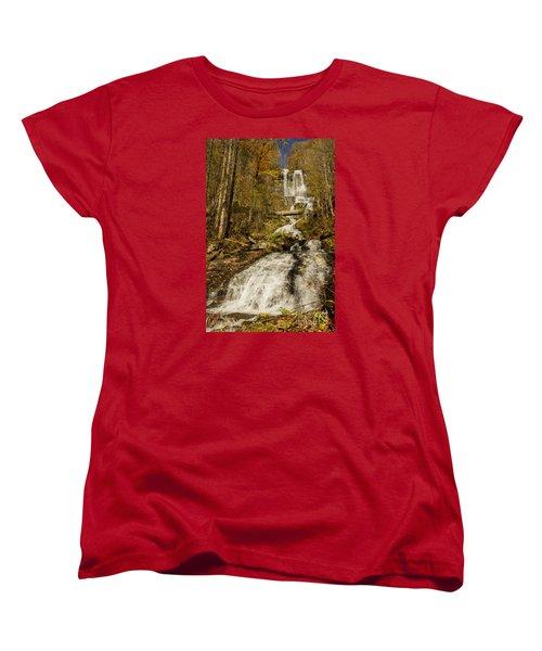 Women's T-Shirt (Standard Cut) featuring the photograph Amicola Falls Gushing by Barbara Bowen