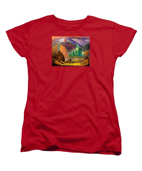 Women's T-Shirt (Standard Cut) featuring the painting Oz, An American Fairy Tale by Art West