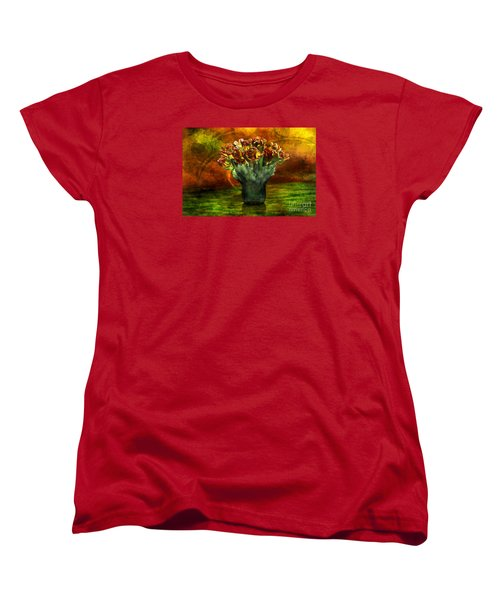 Women's T-Shirt (Standard Cut) featuring the digital art An Armful Of Tulips by Johnny Hildingsson