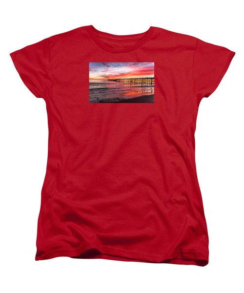 Seacliff Sunset Women's T-Shirt (Standard Cut) by Lora Lee Chapman