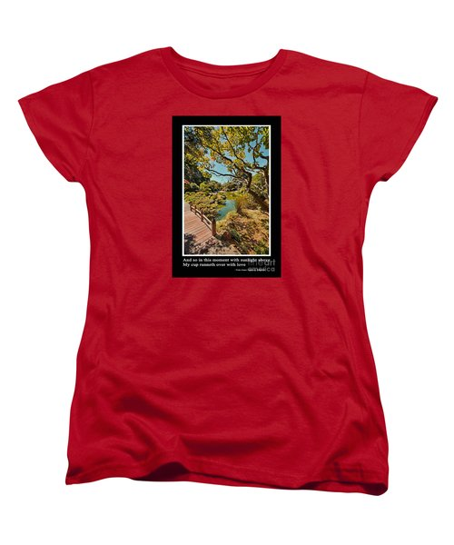 And So In This Moment With Sunlight Above Women's T-Shirt (Standard Cut) by Jim Fitzpatrick