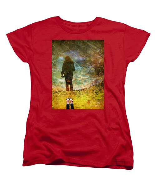 And Then He Turned Her World Upside Down Women's T-Shirt (Standard Cut)