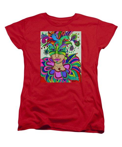 Angelique Women's T-Shirt (Standard Cut) by Alison Caltrider