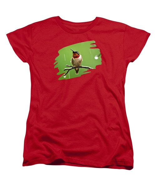 Another Rainy Day Hummingbird Women's T-Shirt (Standard Cut) by Christina Rollo