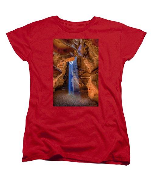 Antelope Canyon Blues Women's T-Shirt (Standard Cut) by Phil Abrams