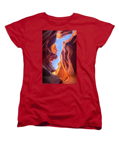 Antelope Canyon Women's T-Shirt (Standard Cut) by Serge Skiba