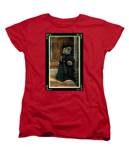 Women's T-Shirt (Standard Cut) featuring the painting Antique Tibetan Lama by Peter Gumaer Ogden