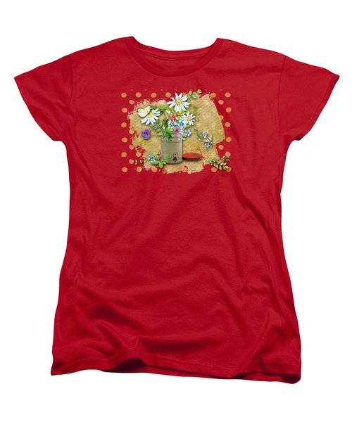 Antique Tin Of Flowers Women's T-Shirt (Standard Cut) by Larry Bishop