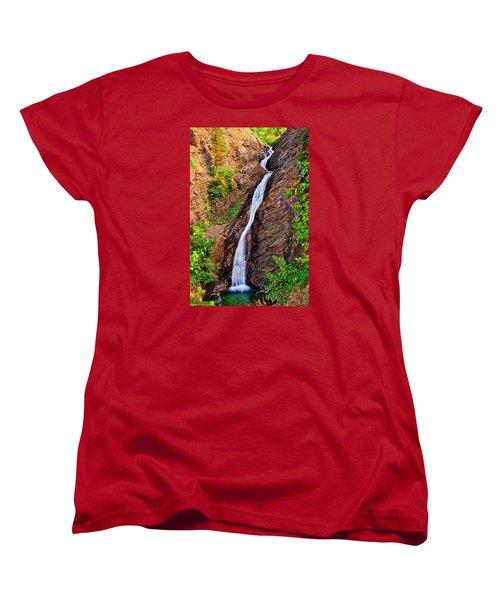 Appistoki Falls Women's T-Shirt (Standard Cut) by Greg Norrell