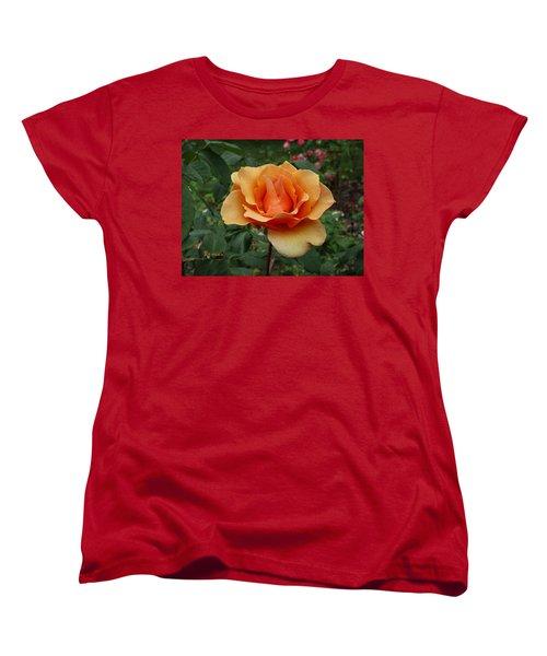 Apricot Rose Women's T-Shirt (Standard Cut) by Sadie Reneau