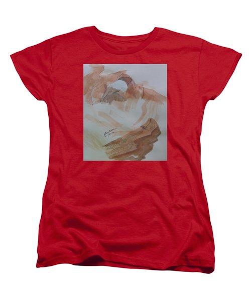 Women's T-Shirt (Standard Cut) featuring the painting Arch Rock - Sketchbook Doodle by Joel Deutsch