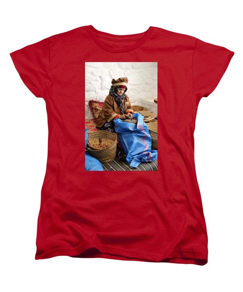 Women's T-Shirt (Standard Cut) featuring the photograph Argan Oil 3 by Andrew Fare