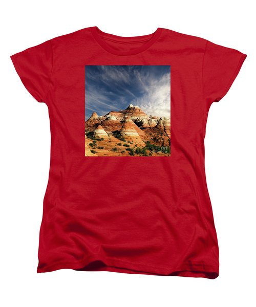 Women's T-Shirt (Standard Cut) featuring the photograph Arizona North Coyote Buttes by Bob Christopher