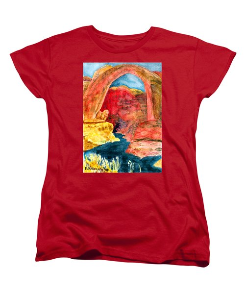 Women's T-Shirt (Standard Cut) featuring the painting Arizona Rainbow by Eric Samuelson