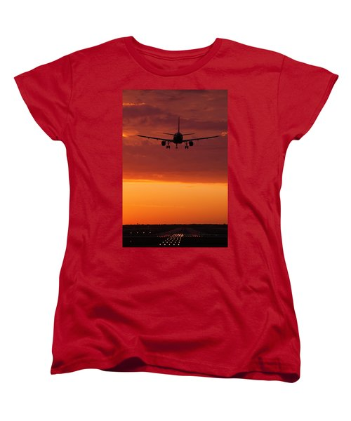 Arriving At Day's End Women's T-Shirt (Standard Cut) by Andrew Soundarajan