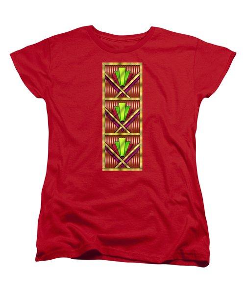 Art Deco 13 Tiles Women's T-Shirt (Standard Cut) by Chuck Staley