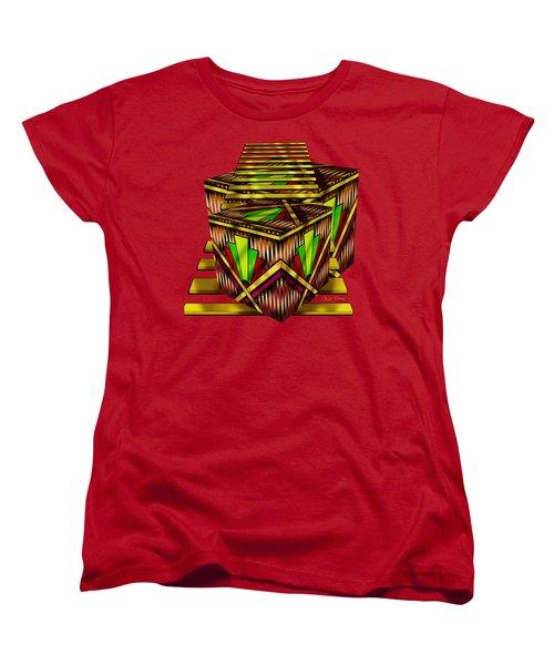 Art Deco Cubes 2 - Transparent Women's T-Shirt (Standard Cut) by Chuck Staley