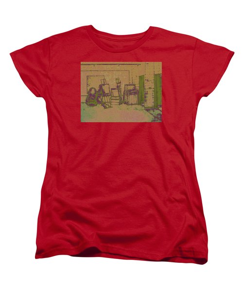 Art Intro Mixed Media Women's T-Shirt (Standard Cut) by Hye Ja Billie