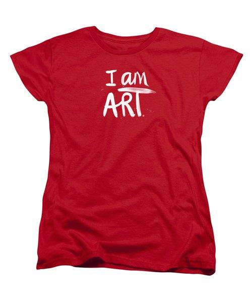 I Am Art- Painted Women's T-Shirt (Standard Fit)