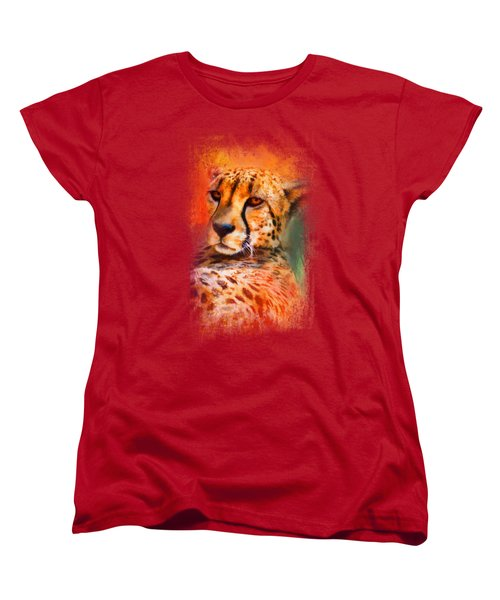 Colorful Expressions Cheetah Women's T-Shirt (Standard Cut) by Jai Johnson