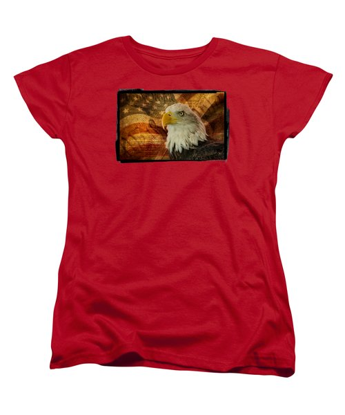 Women's T-Shirt (Standard Cut) featuring the photograph American Icons by Susan Candelario