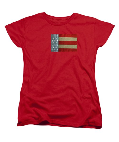 Women's T-Shirt (Standard Cut) featuring the photograph The Flag by Tom Prendergast