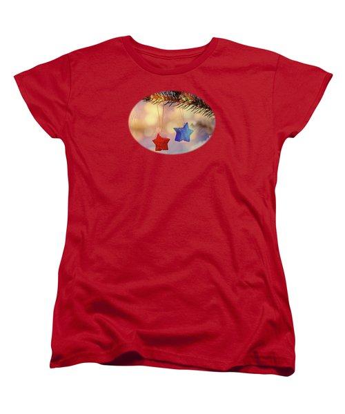 Snowstars Women's T-Shirt (Standard Cut) by AugenWerk Susann Serfezi