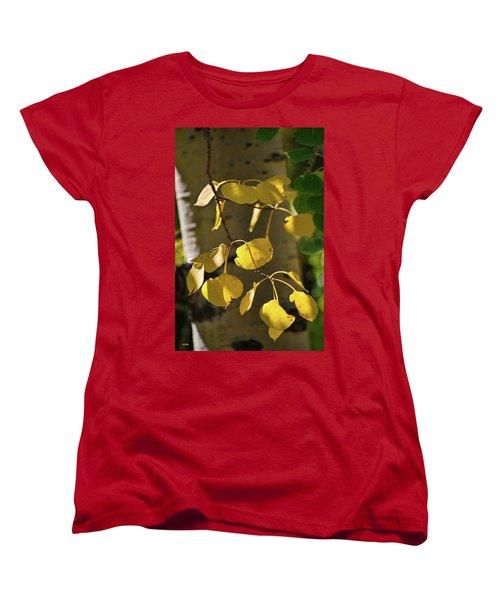 Aspen Closeup Women's T-Shirt (Standard Cut) by Dana Sohr