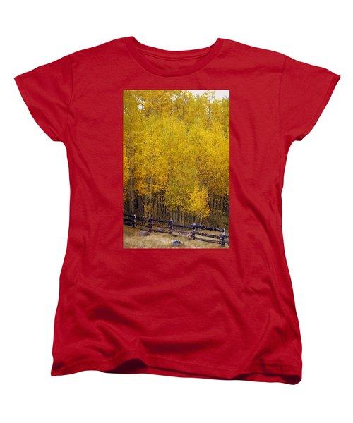 Aspen Fall 2 Women's T-Shirt (Standard Cut) by Marty Koch