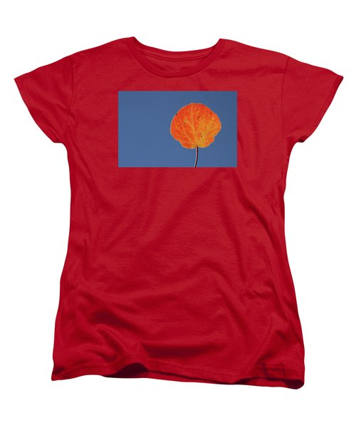 Women's T-Shirt (Standard Cut) featuring the photograph Aspen Leaf 1 by Marie Leslie