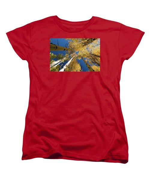 Women's T-Shirt (Standard Cut) featuring the photograph Aspens Up by Steve Stuller