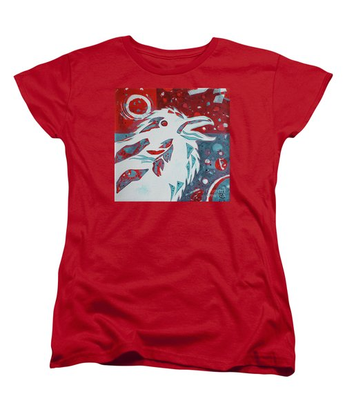 Women's T-Shirt (Standard Cut) featuring the painting Assertion by Cynthia Lagoudakis