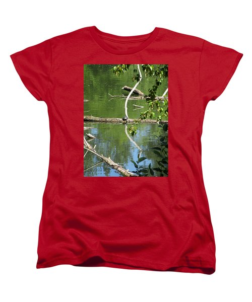 Women's T-Shirt (Standard Cut) featuring the photograph At The Crossroads by Marie Neder