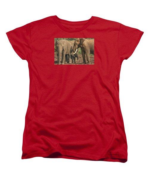 Women's T-Shirt (Standard Cut) featuring the photograph At The Salt Lick by Gary Hall
