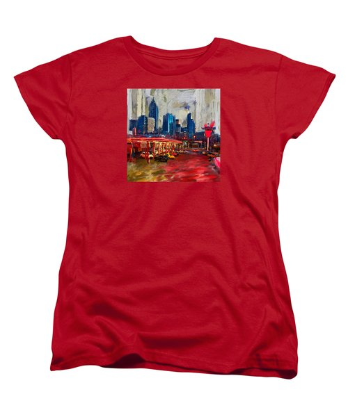 Atlanta Skyline 231 1 Women's T-Shirt (Standard Cut) by Mawra Tahreem
