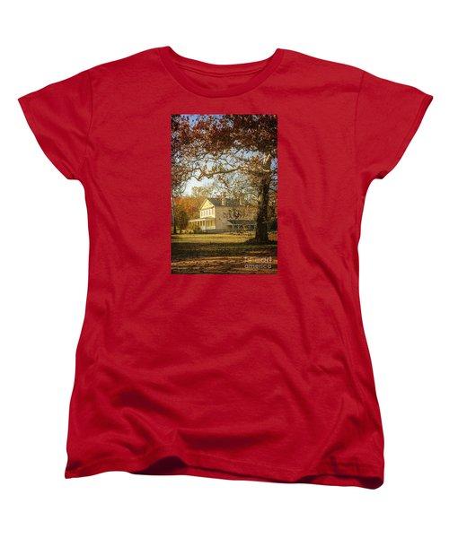 Atsion Mansion Women's T-Shirt (Standard Cut) by Debra Fedchin