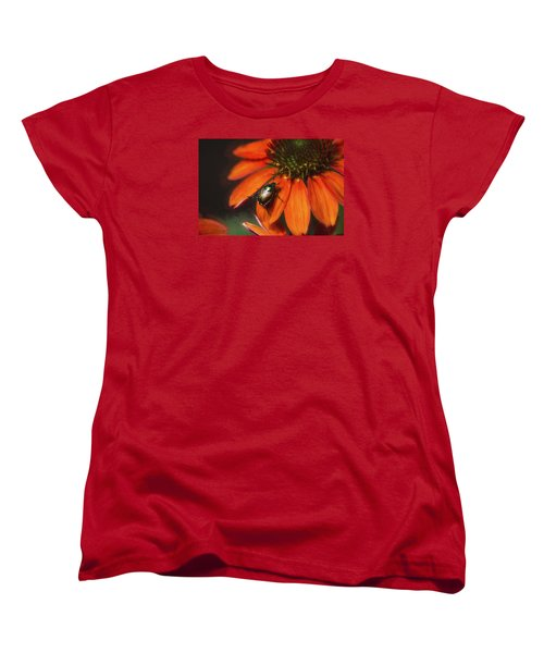 Women's T-Shirt (Standard Cut) featuring the photograph Attraction To Red by John Rivera