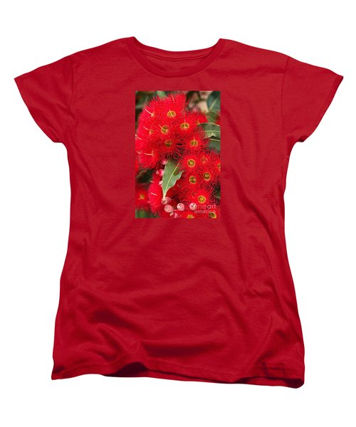 Australian Red Eucalyptus Flowers Women's T-Shirt (Standard Cut) by Joy Watson