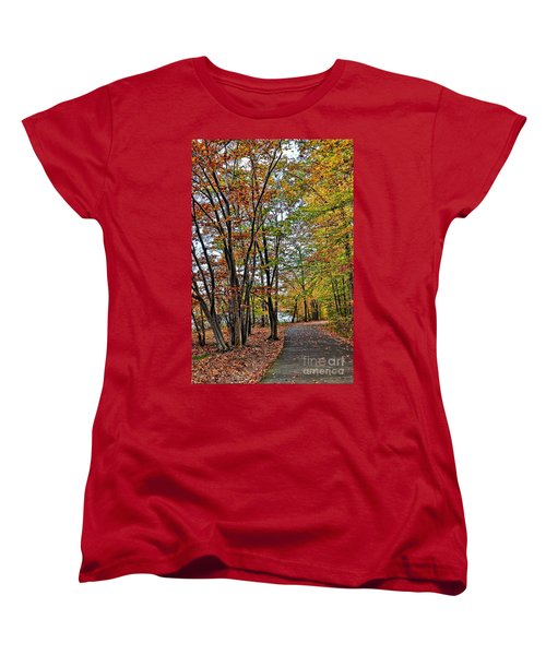 Autumn Bliss Women's T-Shirt (Standard Cut) by Gina Savage