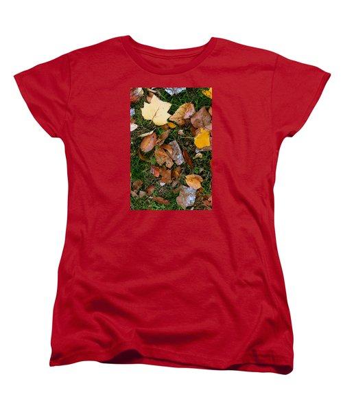 Women's T-Shirt (Standard Cut) featuring the photograph Autumn Carpet 001 by Dorin Adrian Berbier