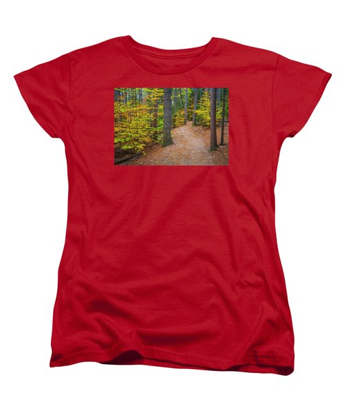 Women's T-Shirt (Standard Cut) featuring the photograph Autumn Fall Foliage In New England by Ranjay Mitra