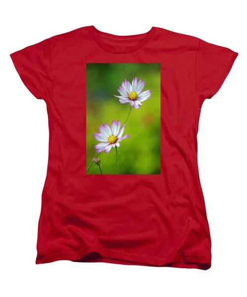 Women's T-Shirt (Standard Cut) featuring the photograph Autumn Flowers by Byron Varvarigos