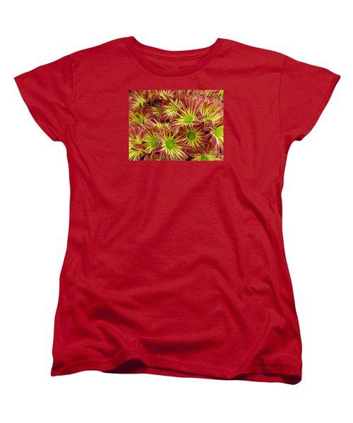 Autumn Flowers Women's T-Shirt (Standard Cut) by Lyric Lucas