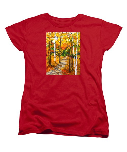Autumn Forest Trail Women's T-Shirt (Standard Cut)