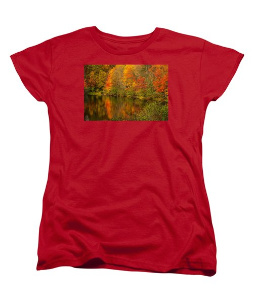 Autumn In Monroe Women's T-Shirt (Standard Cut) by Karol Livote