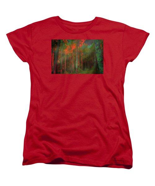 Autumn In The Magic Forest Women's T-Shirt (Standard Cut)