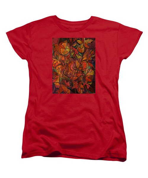 Autumn Kokopelli Women's T-Shirt (Standard Cut) by Anna Duyunova